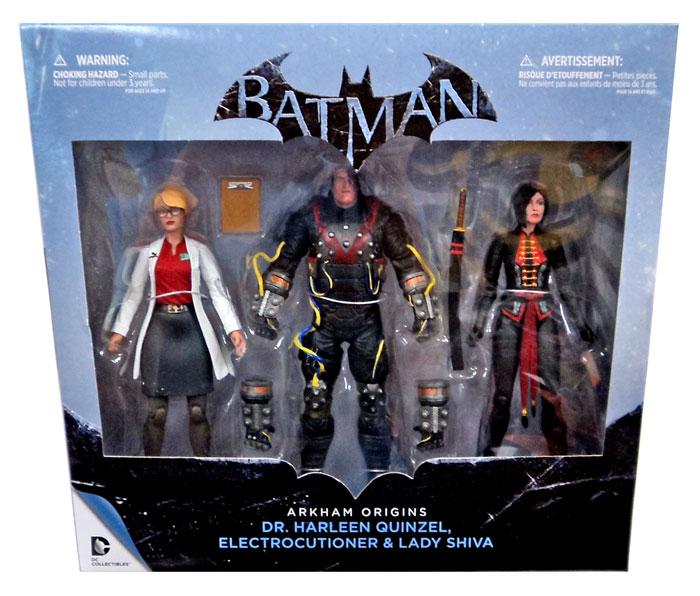 "Набор фигурок Электрошокер, Шива и Харлин Квинзель ""Arkham Origins"" от DC Collectibles"