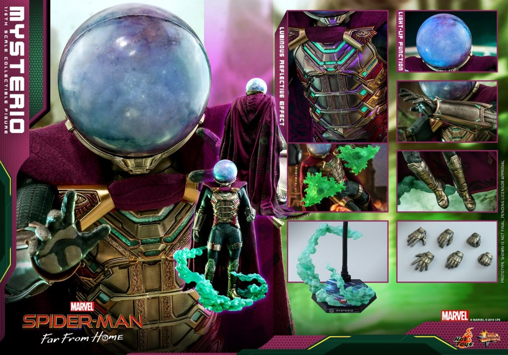 Фигурка Мистерио Hot Toys MMS556 Spider-Man Far From Home – Mysterio Scale Figure (20).jpg