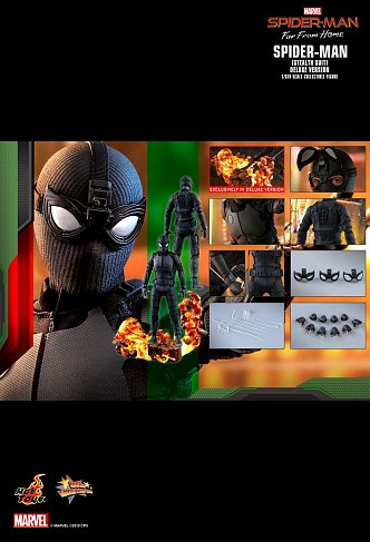 Фигурка Спайдермена — Hot Toys MMS541 Spider-Man Far From Home 1/6 Stealth Suit Deluxe