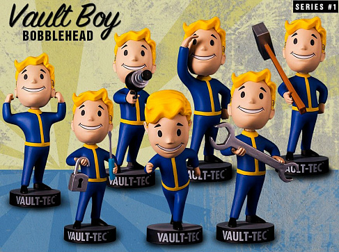 Башкотряс Волт-Бой Melee Weapons Gaming Heads Fallout 4 Bobblehead