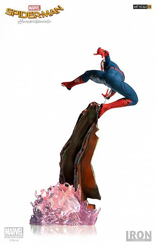 Фигурка Спайдермена — Iron Studios Spider-Man Homecoming Battle Diorama Statue 1/10