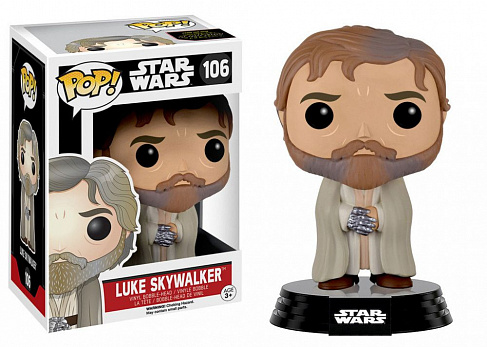 Фигурка Люка Скайуокера — Funko POP! Star Wars Episode VII Luke Skywalker Bearded