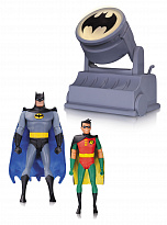 Фигурки Бэтмена и Робина — DC Collectibles Batman The Animated Series Batman & Robin with Bat-Signal