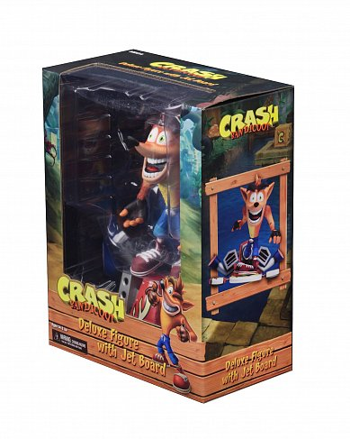 Фигурка Крэша — Neca Crash Bandicoot Deluxe Hoverboard