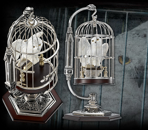 Статуэтка Совы Букли — Noble Collection Harry Potter Hedwig and Cage