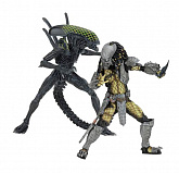 Фигурки Хищника и Чужого — Neca Aliens vs Predator Battle Damaged Celtic & Grid Alien 2-pack