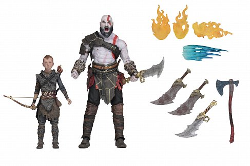 Фигурки Кратоса и Атрея — Neca God of War Ultimate Kratos Atreus 2-Pack