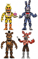 Фигурки Five Nights at Freddys 4-pack Nightmare Set