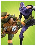 Набор Michelangelo vs Foot Soldier — Neca Teenage Mutant Ninja Turtles Figure 2-Pack