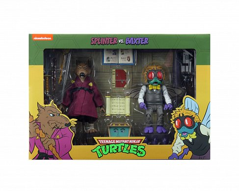 Фигурки Splinter and Baxter — Neca Teenage Mutant Ninja Turtles Cartoon 2 Pack